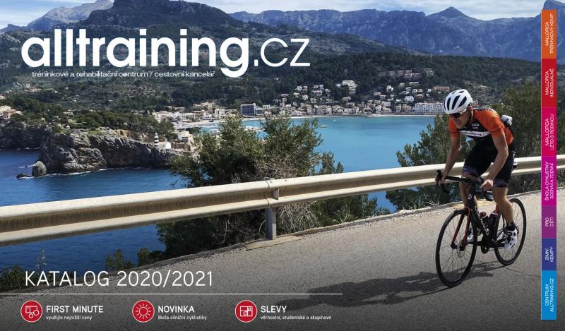 Katalog Alltraining pro rok 2021 – cyklistická dovolená na Mallorce, silniční a MTB kempy v ČR, příměstské tábory, sportovní diagnostika